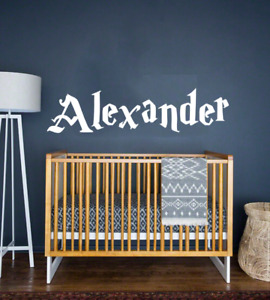 Name Harry Potter Font Personalized Custom Wall Decal Vinyl Sticker Wall Decor