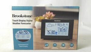 Brookstone BS30173 Convenient LCD Touch Display Digital Weather Forecaster