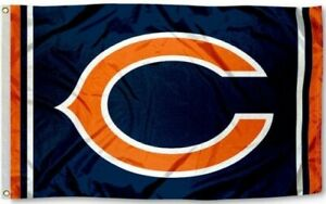 New Chicago Bears quot;Cquot; Football Flag Large 3#x27;X5#x27; NFL FREE SHIPPING