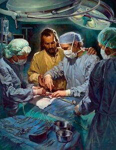 Nathan Greene CHIEF OF THE MEDICAL STAFF 7x5 Jesus with Surgeon Paper Art Card $7.50