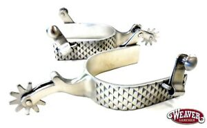 Mens Rasp Spurs Brushed Stainless Steel Heavy Western Cowboy Spurs Free Ship