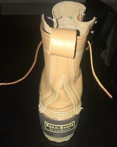 LL Bean Maine 8quot; Duck Rubber Rain Hunting Boots Womens Sz.7 M Made in USA