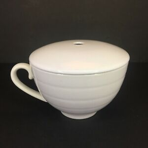 Tea Forte White Porcelain Cup With Extra Lid