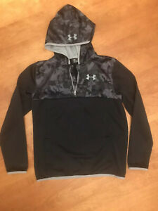Under Armour Yth Boys XL Pullover Digital Camo & Trim Front Pocket With Hoodie $8.00