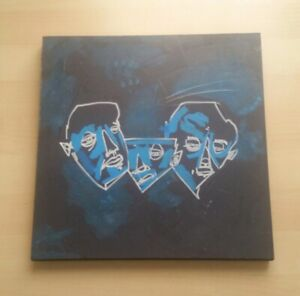 Original Art Painting Modern OUTSIDER GRAFFITI abstract indie drawing faces EAO