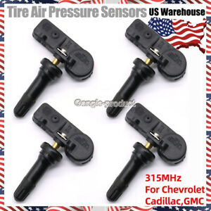For GM TPMS 13586335 Tire Pressure Sensor For Chevy GMC Buick Set of 4 315MHz $28.48