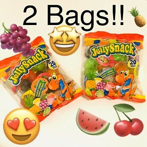 Tik Tok JELLY SNACK Fruit Candy Snacks.  Gely Ju-C Two Packages Of 20