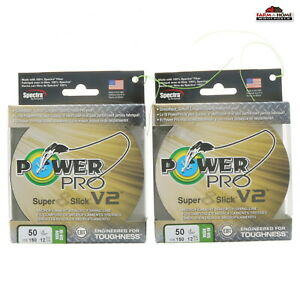 2 Spools Power Pro Braided Fishing Line 50lb 150yds Green New