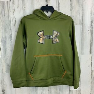 Under Armour STROM Camo Fill Logo Hoodie Youth Large $16.00