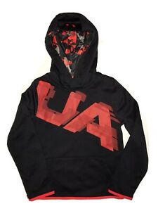 NWT! Under Armour Armour Fleece Highlight Printed Boys Hoodie Sweatshirt YSM $19.99