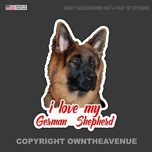 I Love My German Shepherd Sticker Decal Car Bumper Laptop 4.5quot; Inches #FCRL
