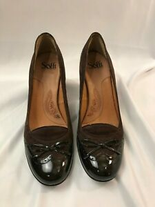 Sofft Slip On Pumps Burgundy Women#x27;s Shoes Size 10 Heeled Leather #1035820