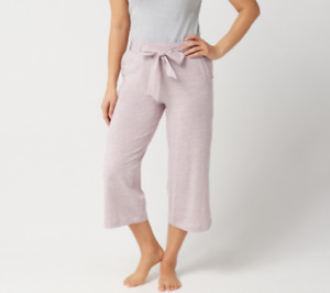 AnyBody Cozy Knit Wide Leg Cropped Pants Hthr Mauve XX Small A302402 NEW