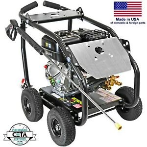 Gas Pressure Washer - Cold Water - 4400 PSI - 4 GPM - AAA Pump - Roll Cage