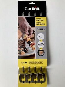 Char-Broil 4pk Grill Cookware Skewers Food Slider Stainless Steel BBQ Set