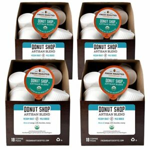 Donut Shop Artisan Blend 72 K Cups 2.0 Compatible Fresh Roasted Coffee $14.95