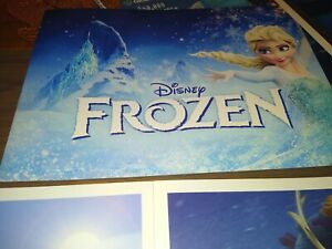 disney store set of 4 FROZEN lithographs with colorful folder $19.99