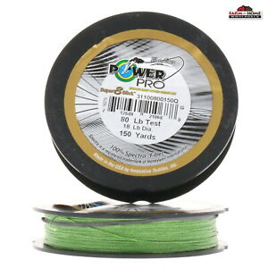 2 Power Pro Braided Fishing Line 80lb 150yds Green New