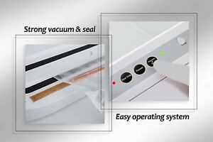 Food Vacuum Sealer Machine, For Dry and Moist Food Preservation w/Starter Bags