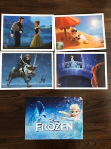 Frozen Disney Store Limited Collector Lithographs • Set Of Four (4) • New 2014 $44.95