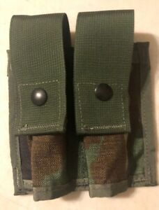 2 NEW MILITARY DOUBLE 40MM GRENADE PISTOL MOLLE MAG CAMO POUCH