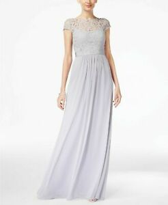 Adrianna Papell Lace Illusion Gown MSRP $179 Size 2 # 14A 742 Blm $23.19