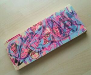 Drawing Painting on Wood 8.5quot; Original Art Indie Modern OUTSIDER GRAFFITI EAO $80.00