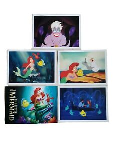 Disney Store Exclusive Commemorative Lithograph Little Mermaid 2013 Set of 4