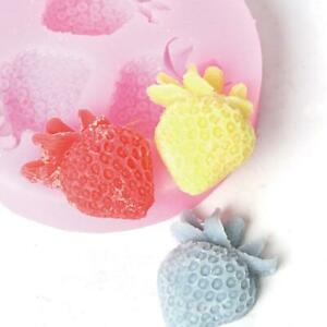 Triple Strawberry Silicone Molds Craft DIY Soap Cake Tart Chocolate Baking Mould