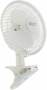 Comfort Zone 6 Inch Clip-On Fan | Great for Table Tops, Night Stands and anywher