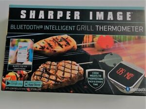 Sharper Image Bluetooth Smartphone Grill Thermometer iOS/Android