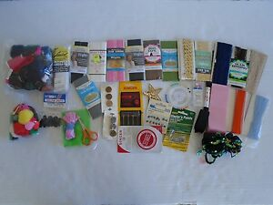 Assorted Vintage New Sewing Supplies Notion Craft Large Lot Needles Buttons Lace $19.99