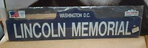 Vintage On The Road Famous Street Sign Lincoln Memorial 18