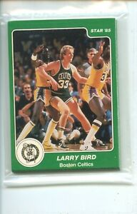 1984 85 Star Boston Celtics Arena Larry Bird Original Sealed Team Set Bag