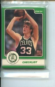 1984 Star Larry Bird Set 18 Card Original Sealed Team Set Bag