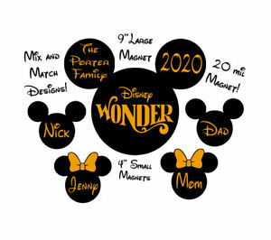 Custom Gold Mickey Disney Inspired Cruise Magnet Personalized Door Magnet