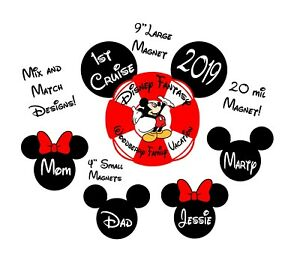 Custom Mickey Disney Inspired Cruise Magnet -Personalized Door Magnet- sign