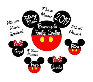 Custom Classical Mickey Disney Inspired Cruise Magnet-Personalized Door Magnet