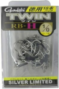 Gamakatsu Fishing Hook Twin RB H Silver Limited #1 0 Qty.18 from Japan 1A3406