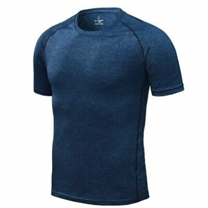 Mens Quick Dry Running T Shirts Fitness Short Sleeve Compression Bodybuilding $16.99