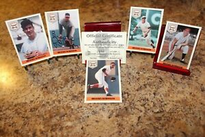 1992 FRONT ROW THE ALL TIME GREAT SERIES BROOKS ROBINSON AUTOGRAPH CARD SET