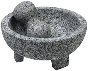 Granite Molcajete Mexican Stone Mortar And Pestle 6inch Bowl Spice Herb Grinder