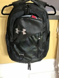 Under Armour Hustle 4.0 Backpack Unisex Black Camo Water Repellent $30.00