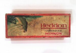 Vintage 1920's Heddon Minnow K315 Fishing Lure Down Leaping Bass EMPTY BOX ONLY