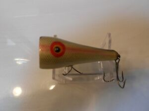 Vintage Clark Popper Scout Old Wood Fishing Lures Nice