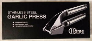 Stainless Steel Garlic Press with Peeler NEW