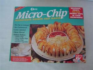 Micro-Chip Microwave Potato Chip Maker~Fat-Free~Vegetable Steamer~As Seen On TV