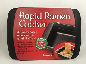 Rapid Ramen Cooker - Microwave Ramen in 3 Minutes - BPA Free and Dishwasher Safe