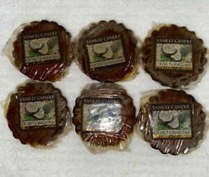YANKEE CANDLE BRAND NEW COCONUT amp; VANILLA BEAN TARTS MELTS SET OF 6 NEW