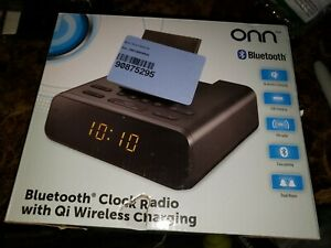 Onn Bluetooth Clock Radio with Qi Wireless Charging